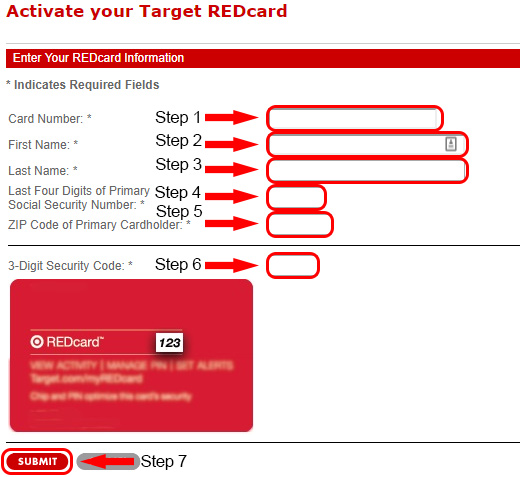 target redcard activation