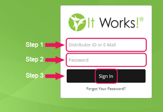 it works login form