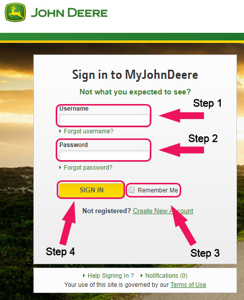 john deere financial members login