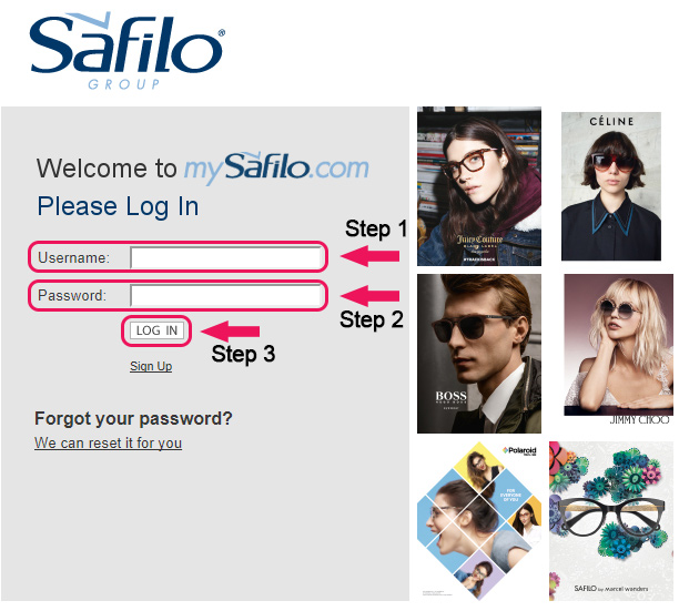 safilo website login