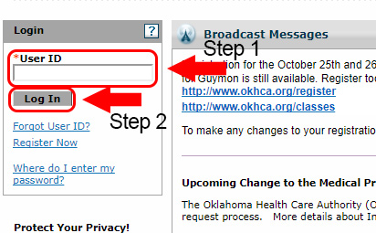 oklahoma healthcare authority login