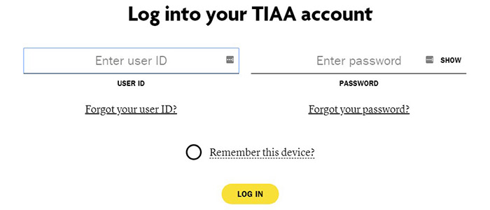 TIAA CREF Brokerage Login